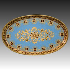 Cloisonne colorful tray with stylistic design