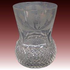 Edinburgh crystal Thistle old fashioned fashion glass