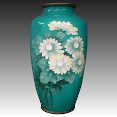 Japanese floral cloisonne vase Ohta with paperwork