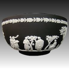 Wedgwood black basalt jasperware bowl classic figures