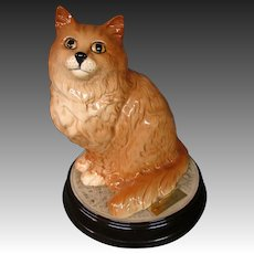 Beswick Persian cat large figurine original base