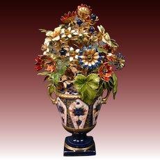 Jane Hutcheson enameled floral arrangement flowers Imari urn vase