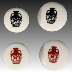 Wedgwood portland vase pair buttoms cuff links 1960's
