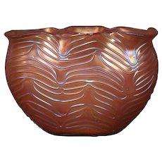 Loetz formosa huge art glass pillow vase camellia red ground