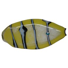 Studio art glass signed and dated 1985 large fish sculpture