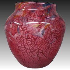Monart Scottish art glass vase marked