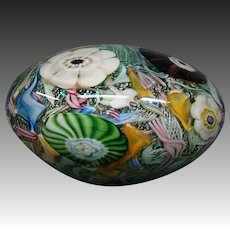 Huge Murano Italian art glass millefiori paperweight