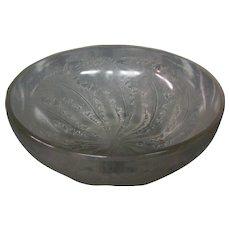 Rene Lalique art glass Chicoree pattern bowl model 3213 c. 1921