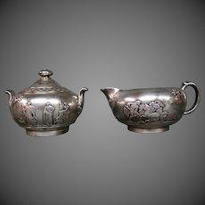 Wedgwood jasperware silver clad creamer sugar bowl Elkington RARE