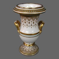 Copeland jewelled jeweled porcelain small handled urn vase Burley & Co Chicago