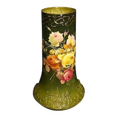 Royal Bonn huge hand painted roses porcelain vase