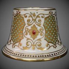 Copeland jewelled jeweled porcelain antique match holder