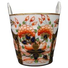 Crown Derby Stevenson & Hancock imari ware handled ice bucket vase open heart handles