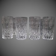 Rogaska Gallia crystal tall highball glasses etched set of eight