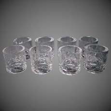Rogaska Gallia crystal set of eight napkin rings