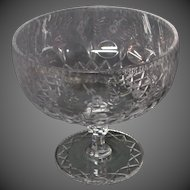 Rogaska Gallia crystal large footed compote centerbowl
