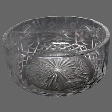 Rogaska Gallia crystal large bowl centerbowl