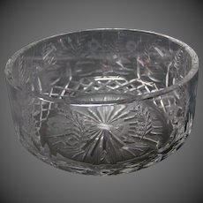 Rogaska Gallia crystal large bowl centerbowl