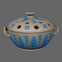 Wedgwood jasperware covered potpourri jar vase antique unusual colors