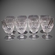 Waterford crystal Colleen short stem water goblets signed