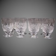 Waterford crystal Colleen short stem juice glasses signed