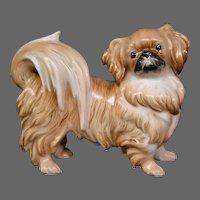 Austria Augarten Wien porcelain dog figurine Pekinese or Japanese Chin