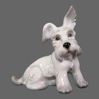 Austria Augarten Wien porcelain dog figurine Highland Terrier