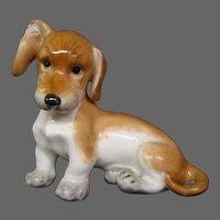 Austria Augarten Wien porcelain dog figurine dachshund puppy