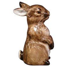 Austria Augarten Wien porcelain rabbit figurine Entwurf Hubert Weidinger