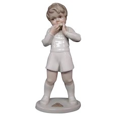 Rosenthal porcelain figurine boy playing harmonica G Oppel 898