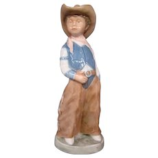 Bing & Grondahl Billy cowboy figurine 1988 Figurine of the Year