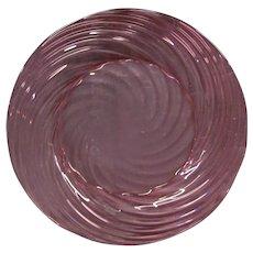 Steuben cranberry art glass plate