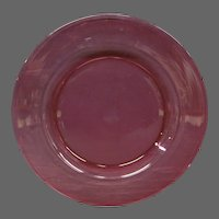 Steuben cranberry ruby art glass plate