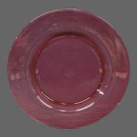 Steuben cranberry ruby art glass plate