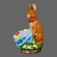 Halcyon Days enamel Easter Bunny with wheelbarrow 2005 figural covered trinket box