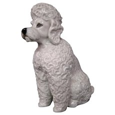 Rosenthal seated white poodle figurine Fritz Heidenreich model 1927