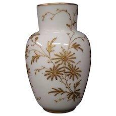 English porcelain gilded enameled floral design vase