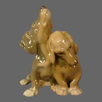 Bing & Grondahl pair dachshund dogs or puppies figurine 1805