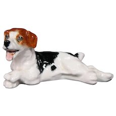 Royal Doulton lying panting terrier dog figurine HN 1101
