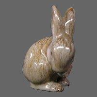 Austrian red glaze clay pottery rabbit figurine