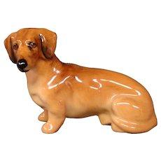 Royal Doulton miniature dog figurine dachshund K17