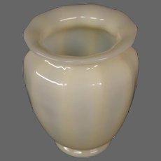 Steuben ivory art glass ribbed shade vase Frederick Carder era
