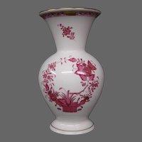 Herend porcelain Indian Basket raspberry tall vase Hungary