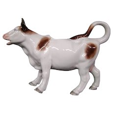German porcelain figural cow creamer cream pitcher