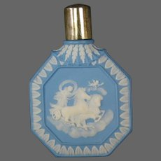 Antique Wedgwood jasperware lay down perfume scent bottle silver fittings classic figures