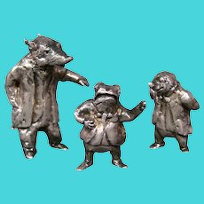 Sterling Edmund Lanier sterling silver Wind in the Willows figurines