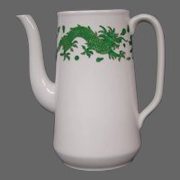 Hammersley bone china green dragon 4602  coffeepot no lid