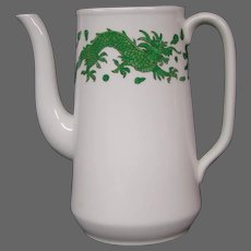 Hammersley bone china green dragon 4602  coffeepot no lid