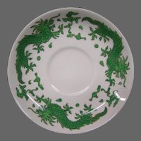 Hammersley bone china green dragon 4602 set of saucers for large cups T Goode London