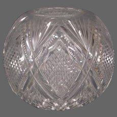 Large cut glass rose bowl rosebowl
